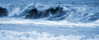Big waves ocean blue toned Stock Image