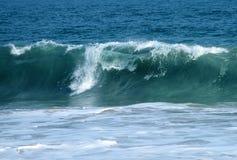 Big waves ocean blue toned royalty free stock photo