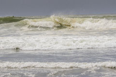 Big waves in the ocean. I was fascinated by these huge waves at ocean shores washington. this is the pacific ocean at the north west part of the united states stock image