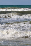 Big waves on the sea. Royalty Free Stock Photo