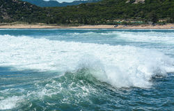 Big waves on the sea in Krabi, Thailand Stock Images