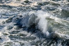 Coastal Sea Storm tempest big wave detail Stock Image