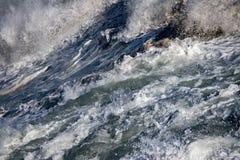 Coastal Sea Storm tempest big wave detail Royalty Free Stock Photo