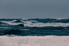 Storm at the sea Stock Image