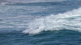 Big waves in Spain stock footage