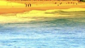 Big waves in Spain stock video footage