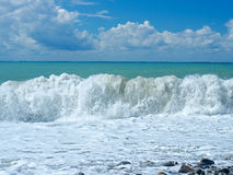 Big waves of surf on the sea Royalty Free Stock Photography