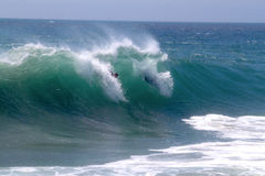 Big Waves at the Wedge. Big waves at the world-famous Wedge in Newport Beach Royalty Free Stock Photo