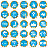 Big web icon set Stock Photos
