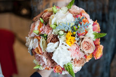 Big wedding bouquet before ceremony. Royalty Free Stock Photography