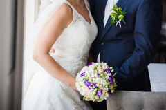 Big wedding bouquet Stock Images