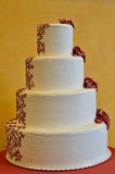Big wedding cream cake on table Stock Images