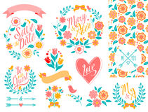 BIG Wedding graphic set Royalty Free Stock Images