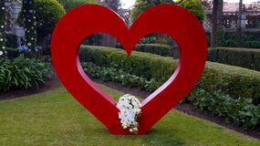 Big wedding heart decoration Royalty Free Stock Images