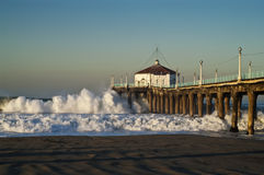 Big Wednesday 2007 Manhattan Beach Pier Royalty Free Stock Images