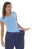 Big weightloss. Shot of a womans big weightloss Stock Images