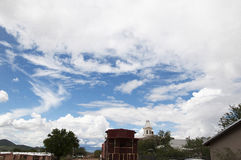 Big Western Sky in Tombstone Arizona. Tombstone in Arizona where the Gunfight at the OK Corral was fought in the USA. It is called the Town too tough to die Royalty Free Stock Photo