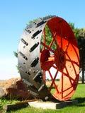 Big Wheel. Farmer's combine wheel Stock Photography