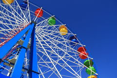 Big wheel. Color Big wheel in park against the dark blue sky Stock Image