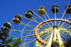 Big wheel. Attraction a big wheel Stock Photography
