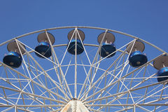 Big Wheel against blue evening sky. With copy space Royalty Free Stock Images