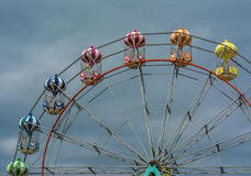 Big Wheel. Against stormy sky at Skegness Royalty Free Stock Photography