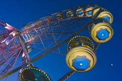 Big wheel in a amusement park Stock Image