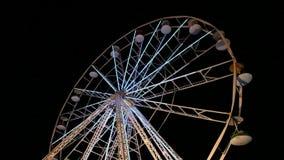 Big wheel in amusement park stock video footage