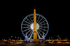 Free Big Wheel And Obelisk De La Concorde Stock Image - 15536341