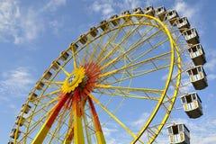Big wheel. Bavarian big wheel with Bavarian blue sky stock image
