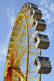 Big wheel. Bavarian big wheel with Bavarian blue sky royalty free stock photos