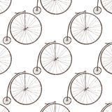 Big wheel bicycle Stock Photos