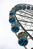 Big wheel with blue gondolas. On a fun park in nuremberg, germany Stock Images