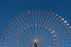 Big wheel with blue sky Royalty Free Stock Photography