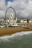 Big Wheel Brighton. Brighton big wheel opens despite concerns that it ruins a conservation area.  The Wheel, that was shipped in from South Africa is 45 meters Stock Photo