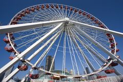 Big Wheel in Chicago Royalty Free Stock Images