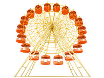 Big wheel closeup isolated on white background. 3d rendering Stock Image