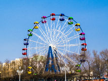 Big wheel. The big wheel costs on the bank of the sea gulf Stock Photography