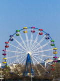 Big wheel. The big wheel costs on the bank of the sea gulf Royalty Free Stock Image