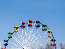 Big wheel. The big wheel costs on the bank of the sea gulf Royalty Free Stock Photo
