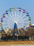Big wheel. The big wheel costs on the bank of the sea gulf Royalty Free Stock Images