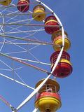 Big Wheel Detail. Side view looking up of the pods on a big wheel at a UK funfair Royalty Free Stock Photo