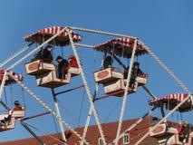 Big wheel in Dresden on Altmarkt, Germany Stock Image