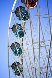 Big wheel in a fairground. Close up of big wheel in a fairground Stock Photo