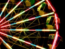 Big wheel on a fun fair in specia effectl stock photography