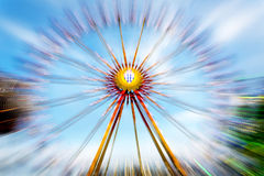 Big wheel on a fun fare. Shot taken with intentional camera movement (ICM Royalty Free Stock Photography