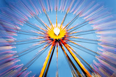 Big wheel on a fun fare. Shot taken with intentional camera movement (ICM Royalty Free Stock Photo