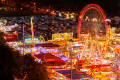 Big wheel at Goose Fair, Nottingham. Royalty Free Stock Photography
