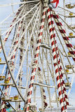 A big wheel. The big wheel in the harbor Royalty Free Stock Photography