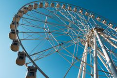 Big wheel in the high sky Royalty Free Stock Photos